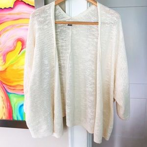 OLD NAVY Linen Blend Cocoon Shawl Open Sweater